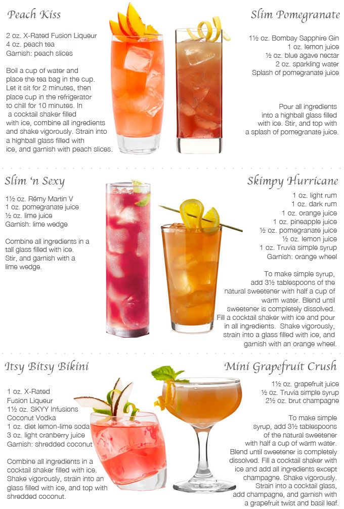 Light summer cocktails