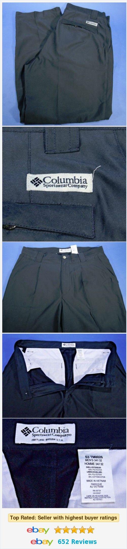 Men's Colombia Sportswear Dark Gray Casual Pants 34/I 32 Polyester  | eBay