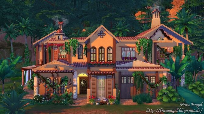 Jungle Villa at Frau Engel • Sims 4 Updates