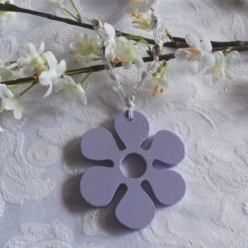 Wedding Charm - Flower, Mauve.Growth & Love. Wedding Charms are given to the bride after she is married – usually when the ceremony is over. These symbols of luck, love, growth or transformation are hung on the bride's wrist as a special token of love and friendship for the new bride. Ancient Realms is designed and handcrafted in Australia. Made from wood, crystal and cord.$16.00au. More at Sacred Living, just follow link.  .