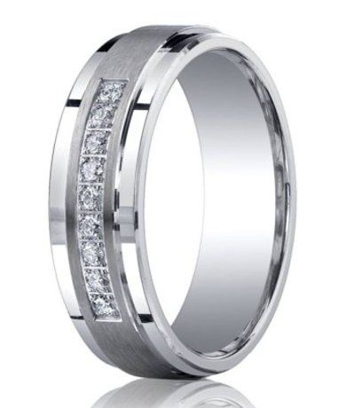 Nine sparkling round cut diamonds are pave set into this spectacular 7mm silver band. A matte satin finish and polished step-down edges give this men's diamond wedding band a sophisticated designer look!  Web Page: http://www.justmensrings.com/Satin-Finished-Silver-Wedding-Band-with-9-Round-Cut-Diamonds-and-Polished-Edges-7mm--JBSD1003_p_930.htmlSilver Diamonds, Satin Finish, Argentium Silver, Diamonds Wedding Band, Diamonds Rings, Wedding Bands, Pave Sets, Rings Ideas, Men Wedding Band