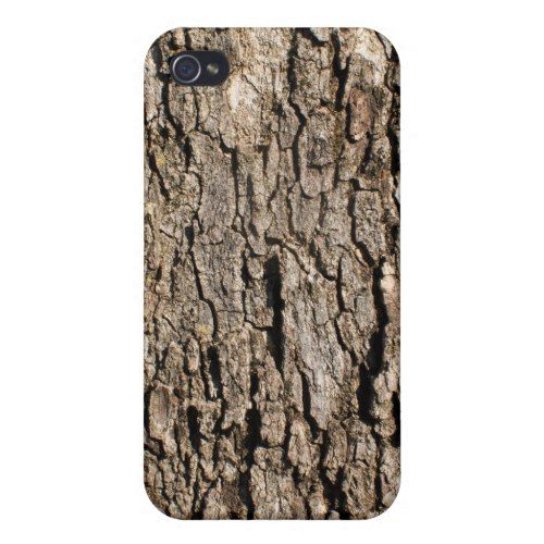 Wood Bark Background Cases For iPhone 4