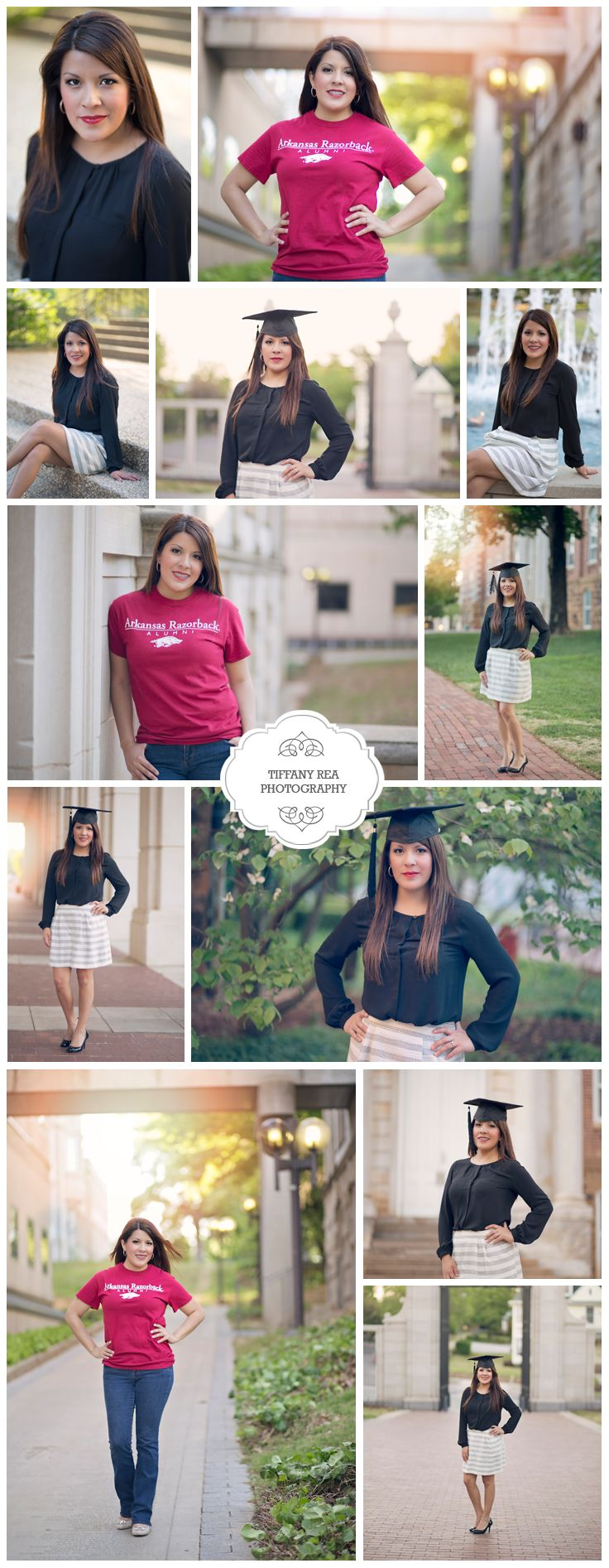 College Grad Photography Session - College Graduate - U of A - University of Arkansas - Fayetteville, Arkansas - Tiffany Rea Photography