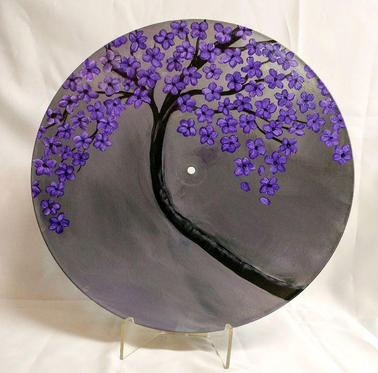 Cherry blossom painting on vinyl