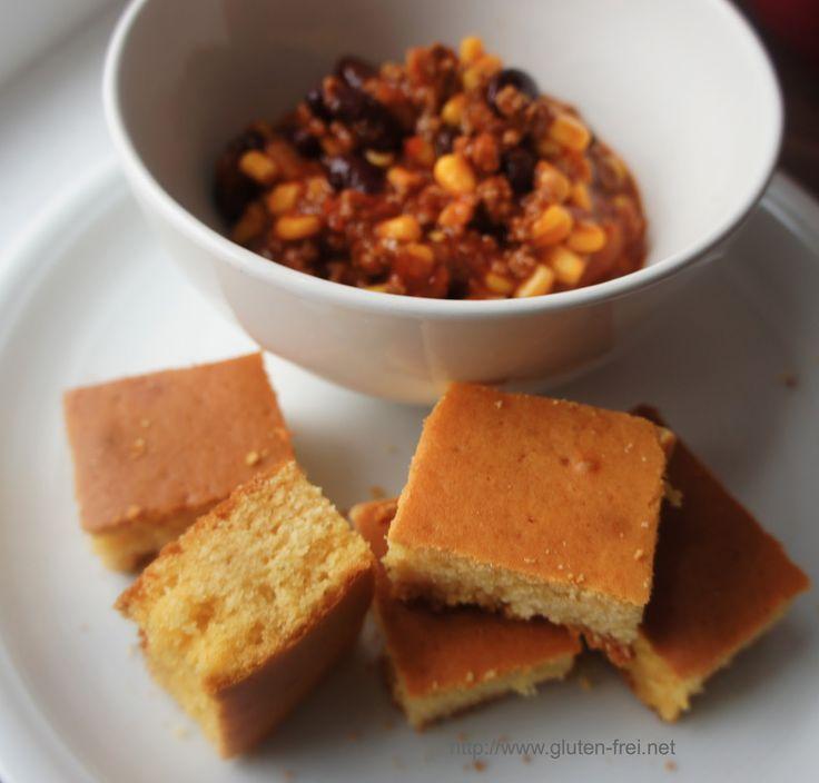 Rezept für glutenfreies Chili Con Carne mit süßem Maisbrot.