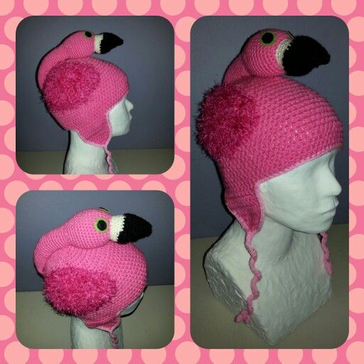 Crochet flamigo hat ^^