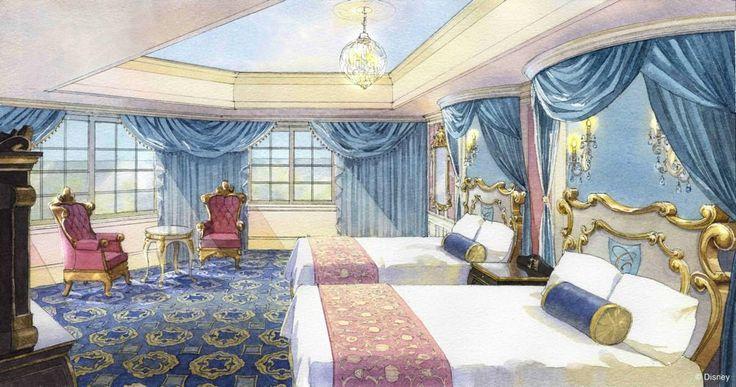 Cinderella suite tokyo disneyland hotel tokyo disney for Chambre castle club disneyland hotel