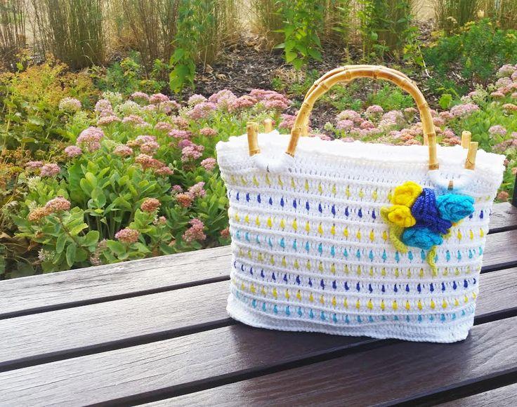 "handmade by -Katarinka- / ""bianca"" / háčkovaná kabelka - borsetta all´uncinetto - crocheted bag"