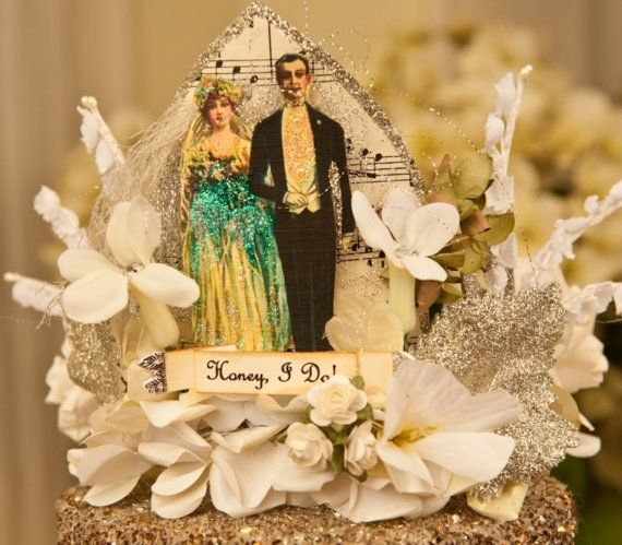 Honey I Do Crown Wedding Topper Crown by OvertheTopStudios on Etsy, $99.00 Possible DIY? LOVE IT!