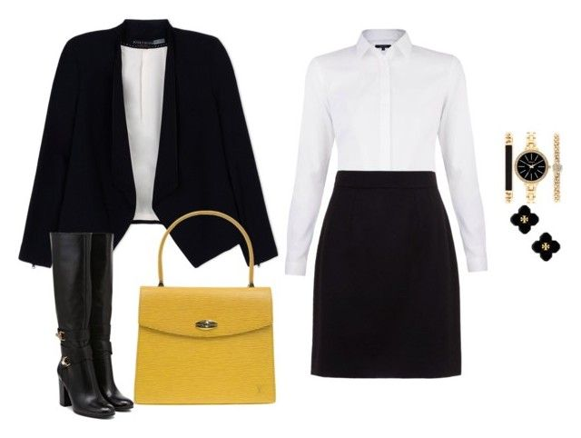 """""""Business look"""" by monika1555 on Polyvore featuring Alice + Olivia, Louis Vuitton, Dolce&Gabbana, Style & Co. and Tory Burch"""