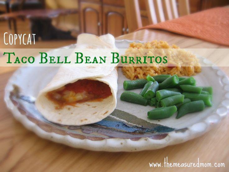 Copycat Taco Bell Bean Burritos