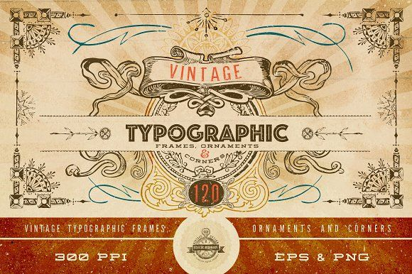 Vintage Vector Frames & Corners by Eclectic Anthology on @creativemarket