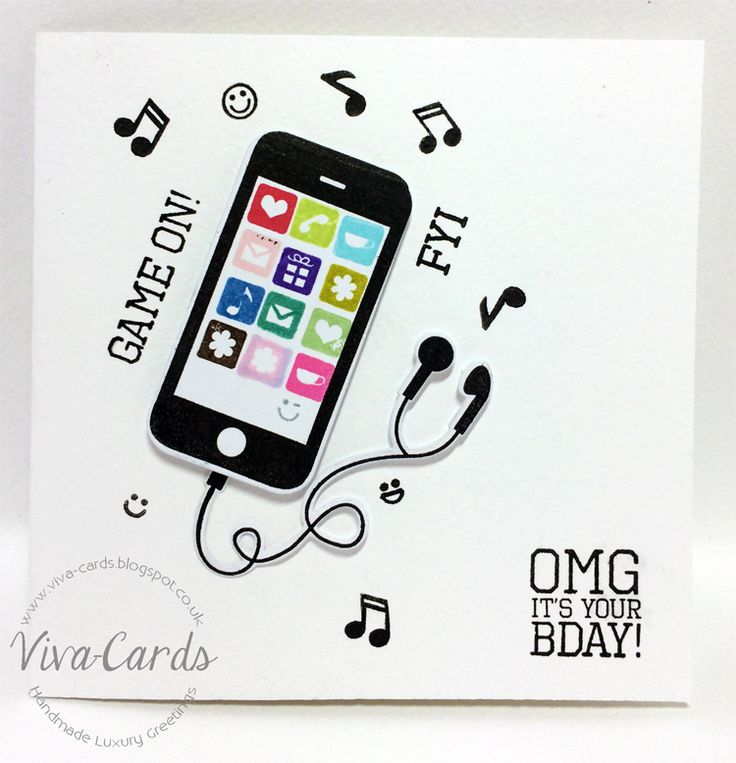 Handmade Card - Texted  #Clearly Besotted Text Me