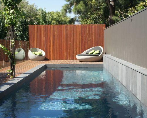 Бассейн в современном стиле - фото бассейна на даче и в загородном доме…