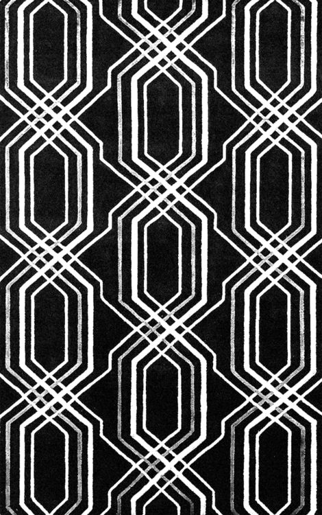 Black & white pattern with bold repetition; monochrome print design
