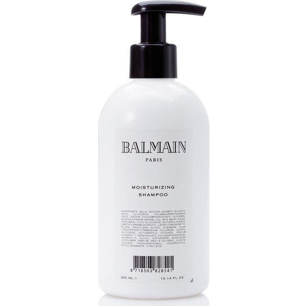 Balmain Hair Moisturising Shampoo (300ml) (€26) ❤ liked on Polyvore featuring beauty products, haircare, hair shampoo and balmain