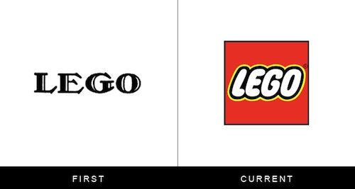 Logos Of Famous Brands, Then And Now. More at the site.
