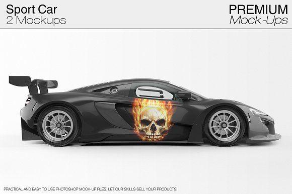 7240+ Sport Car Mockup Free Download Free