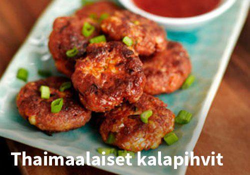 Thaimaalaiset kalapihvit, Resepti: Finefoods #kauppahalli24 #resepti #kalapihvit #thaimaalainen #ruoka #arkiruoka #ruokaideat