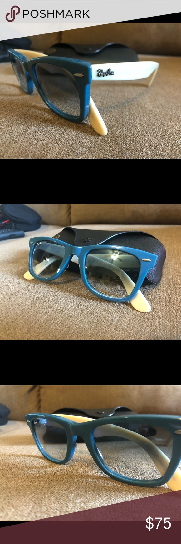 VINTAGE RAY-BAN WAYFARERS Blue and cream-perfect condition!  No trades.  No lowballs.  Prices firm.  Discount on bundles. Ray-Ban Accessories Sunglasses