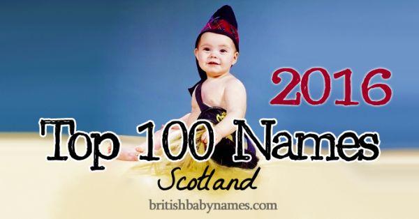 Top 100 Names Scotland 2016