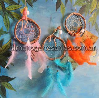 Atrapasueños con hadas de porcelana fría http://www.tirnanogatrapas.com.ar/seresmagicos