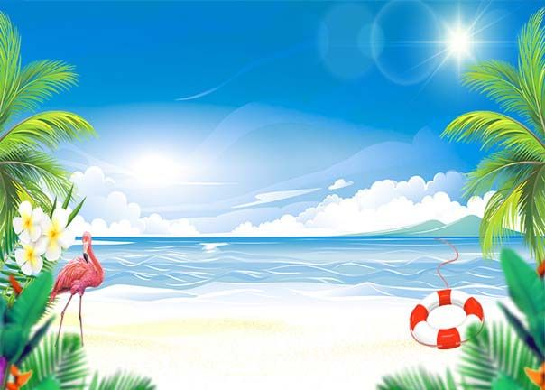 Beach Ocean Photography Backdrop Nature Theme Party Background For