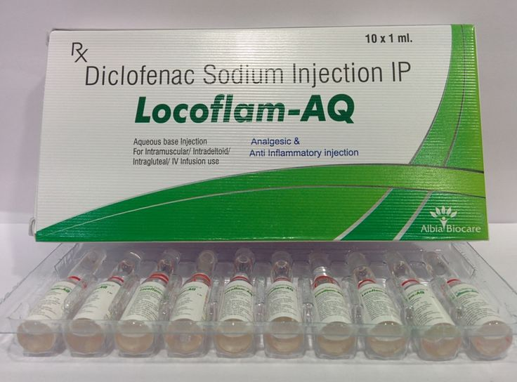 Locoflam -AQ inj.( Diclofenac Sodium Injection) from the house of Albia Biocare