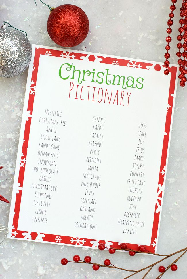 Free Printable Holiday Party Games for Kids Fun