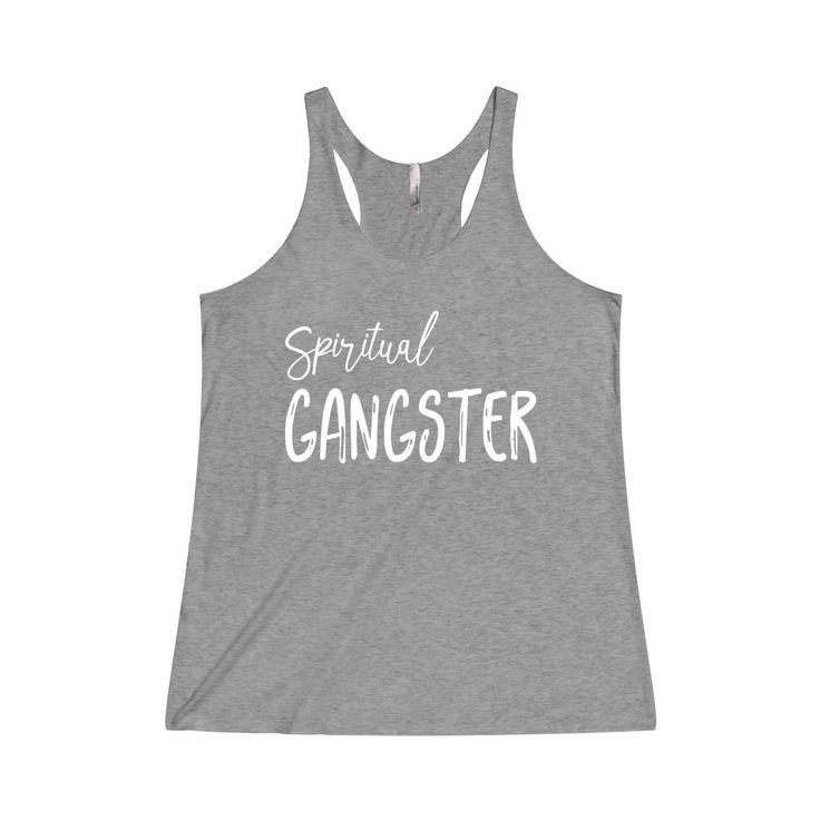 Spiritual Gangster Tank Top Tri-Blend Racerback Yoga Tank
