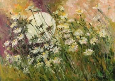 "Saatchi Art Artist Margaret Raven; Painting, ""Night marguerites"" #art"