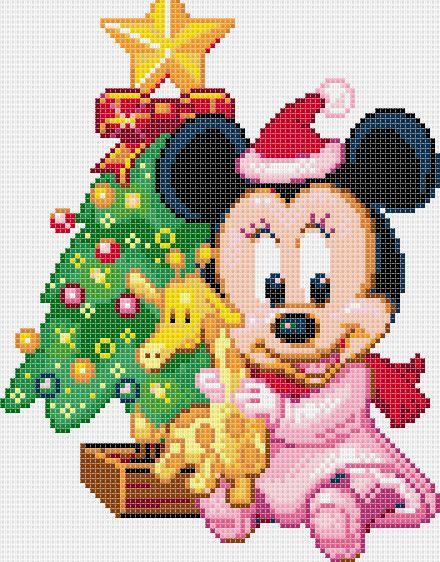 Minnie y mickey beb s plantilla para punto de cruz - Labores de crochet para bebes ...