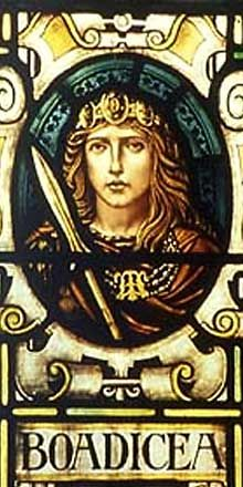 Boudicca, Celtic warrior queen, led a major uprising that nearly caused the Romans to retreat from what is now England. She rode into battle on a chariot with her grown daughters fighting at her side.