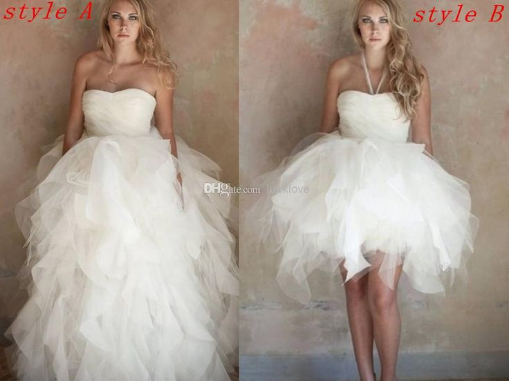 Fancy Cheap Organza And Tulle Strapless Ball Gown In With Convertible Ruffle Skirt Beach Wedding Dresses Bachelor Party Dresses As Low As