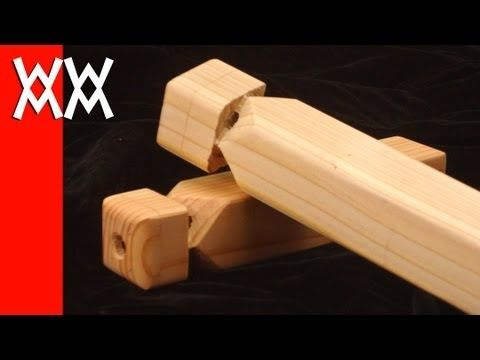 ▶ How to make a wooden train whistle - YouTube - Steve Ramsey has a TON of instrument how to vids!