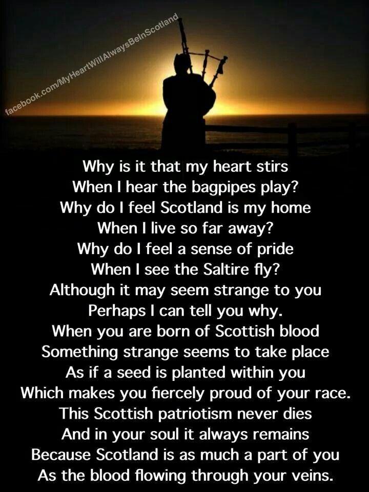 No nací en Escocia. .pero si puedo decir que allí pertenezco, es nostalgia por esa tierra que se que no es mi patria, me siento parte de ella..Amo todo sus paisajes,castillos y todo lo que es de allí. ...Escocia de mi corazón. ..