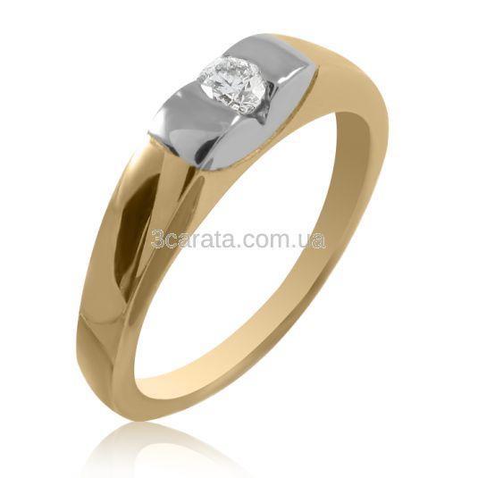 Помолвочное комбинирванное кольцо с бриллиантом 0,13 карат, 3 мм в оригинальном касте с белым золотом - заключает в себе силу и качества, присущие любовному чувству -уникальность, редкость и неизменность. Золото 585 пробы. Вес кольца 3 грамма