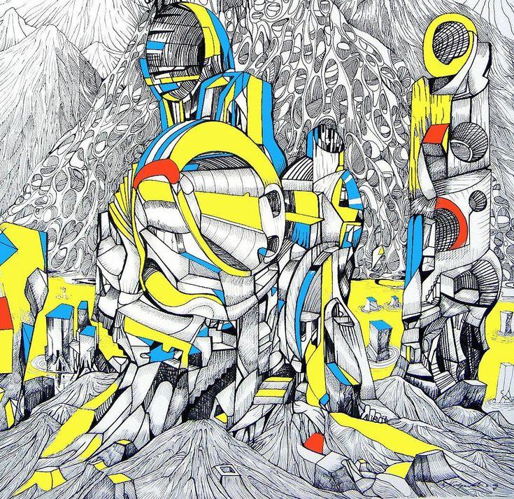 Hello tomorrow!! acrylic and ink on paper #tomorrow #ancientcity #modernart #yellow #lostinlines #nyc #artsy #myway #artcollector #acrylic #artlover #contemporaryart #sculptoroflight #miami #markogavrilovic #artdealers #contemporaryserbianart #drawing #pinterest #artstudio #artnews #interiordesign #drawings #belgrade #portrait #hills #future #lines #meaning