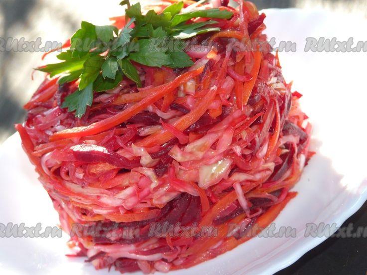 Салат из капусты моркови уксус соль сахар