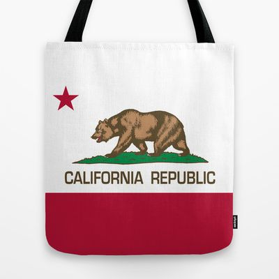 "California Republic state flag - Authentic Version ""retweaked"" Tote Bag by Bruce Stanfield - $22.00"