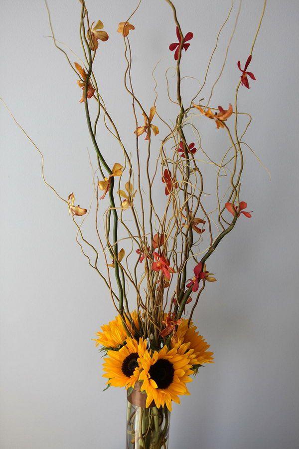 Fall Wedding Flower Arrangement - Creative Flower Arrangement Ideas, http://hative.com/creative-flower-arrangement-ideas/,