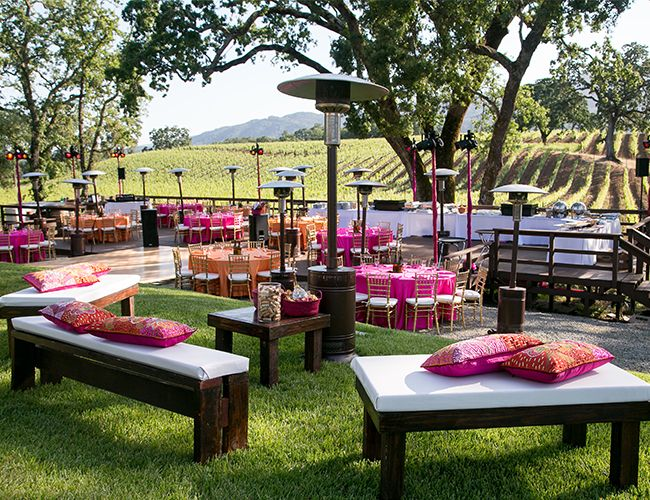 How To Make Your Summer Wedding Stand Out- Styling by Anais Events; Photo by Tim Halberg Photography. At B.R. Cohn Winery. Wine country wedding. Outdoor Wedding. Indian Wedding Inspiration. California fusion wedding.