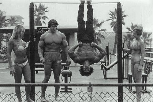 Arnold és Franco Columbu