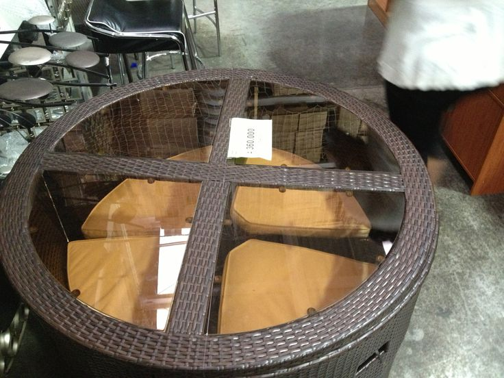 Round Table With Hidden Chairs Great For Small Places