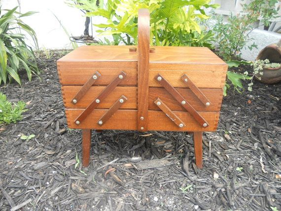 Have a sewing box just like this except it is a very dark brown.
