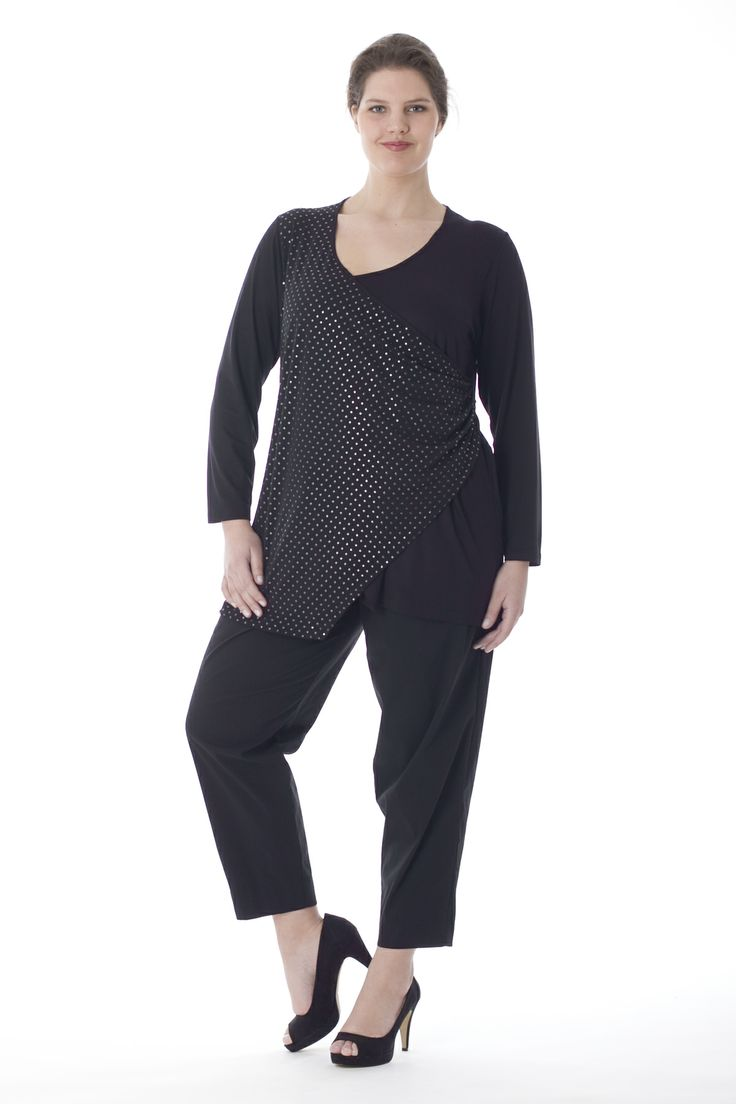 A-line shirt with lace front from exelle