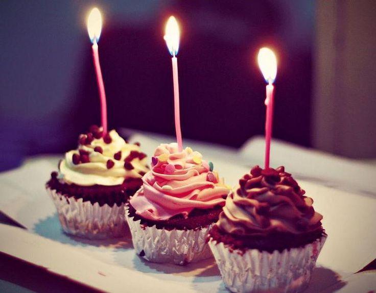 Happy birthday cupcake photography