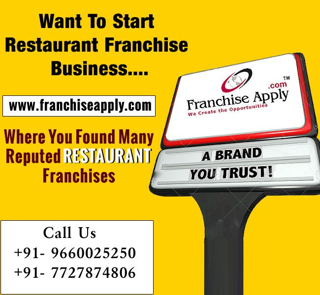 Want To Start Restaurant Franchise Business - Click Here