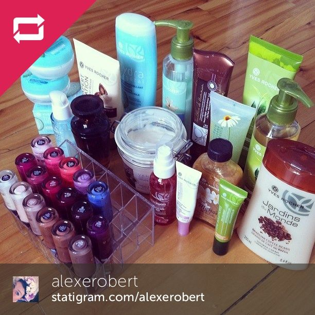 Alexe shared her collection! Une collection organisée de la part d'Alexe ! #yvesrocherfan #yvesrochercanada