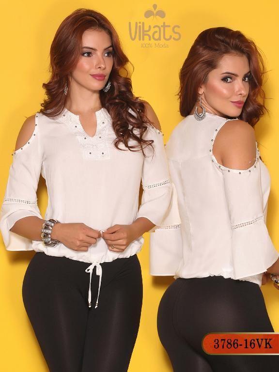 3b163c0c10 Blusa Moda Colombiana Vikats - Ref. 252 -3786-16 VK Beige